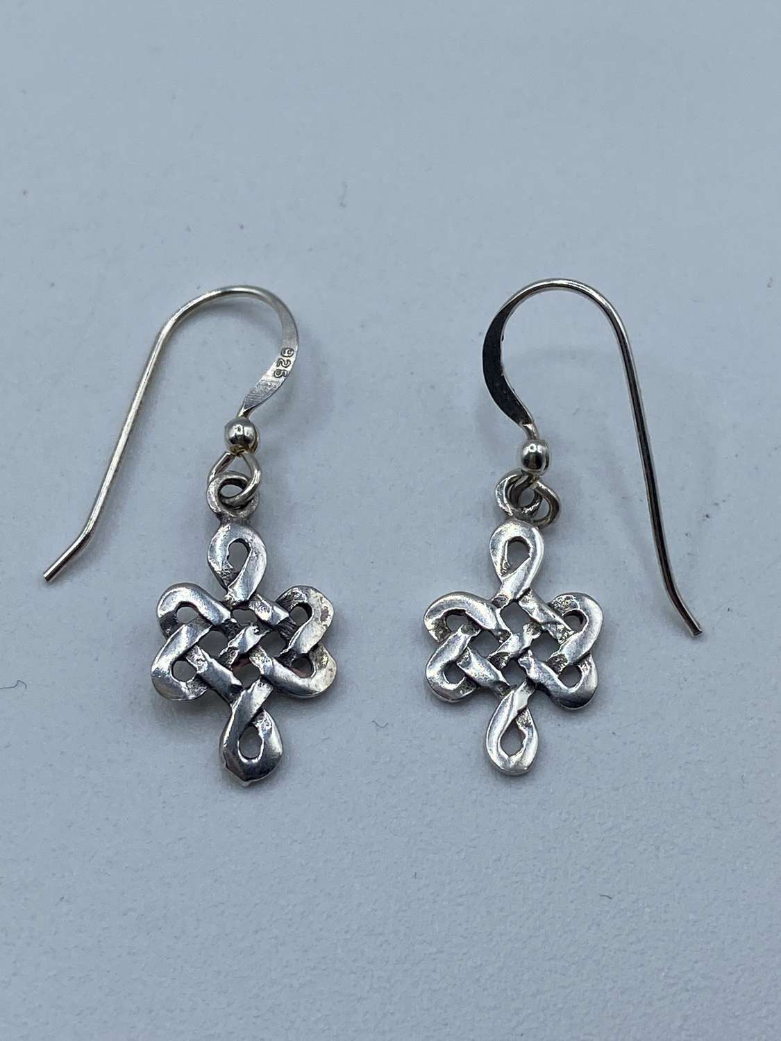 Pair Of Vintage KH93 Kit Heath Celtic  925 Marked Silver Earrings