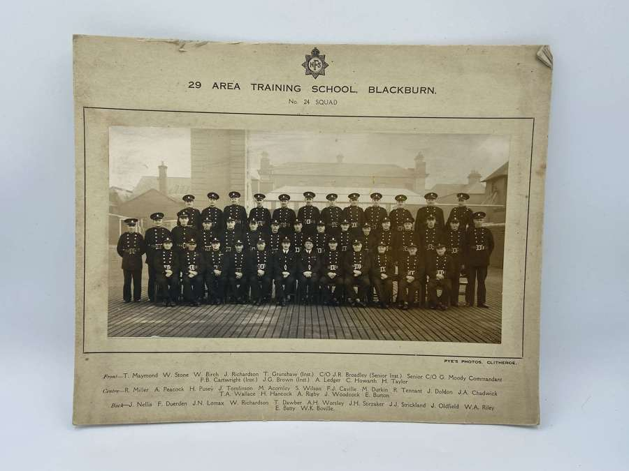 WW2 NFS 29 Area Training School Blackburn  No 24 Squad Photograph