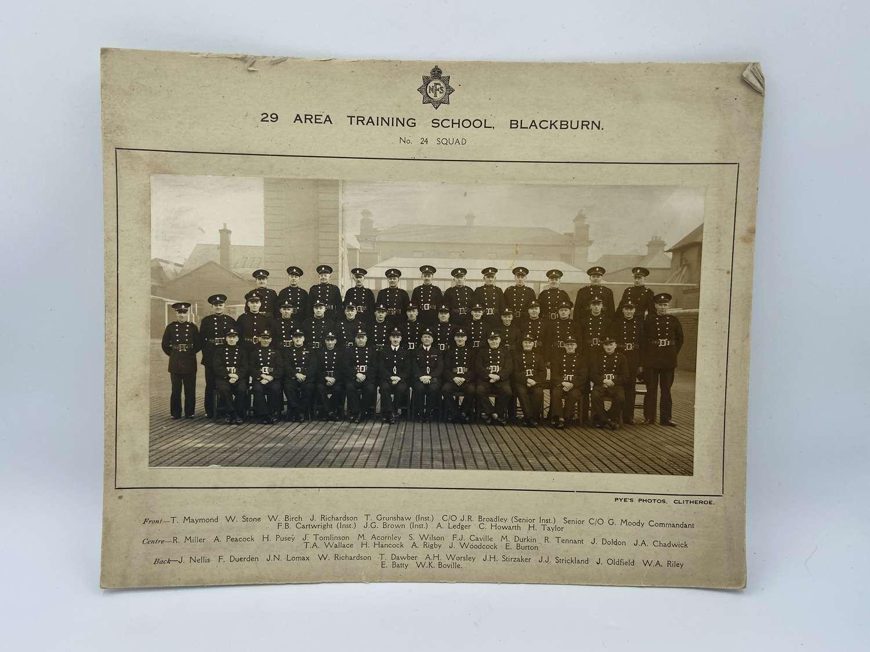 WW2 NFS 29 Area Training School Blackburn  No 24 Squad Photograph