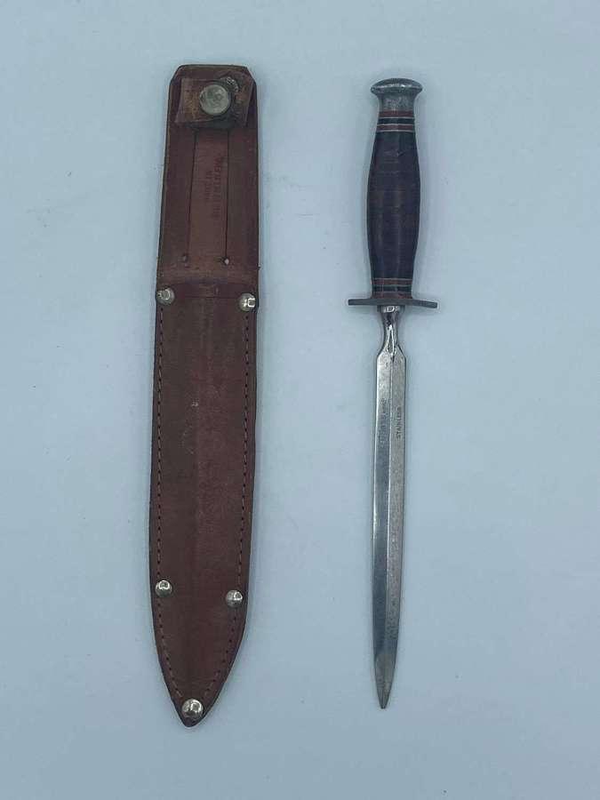 WW2 British Stiletto Leather Handle &  Aluminium Pommel by Cutlass