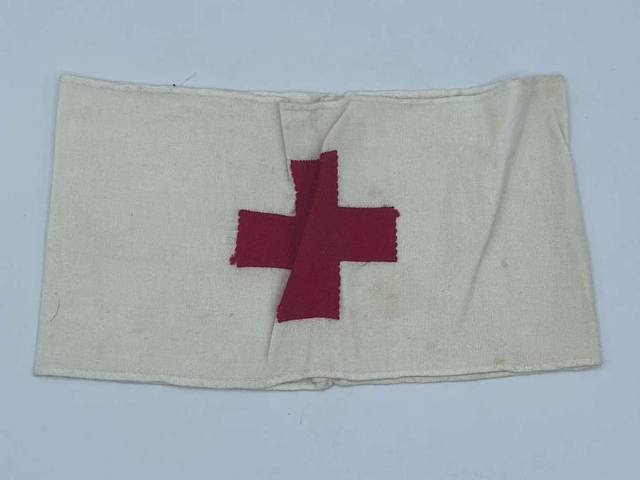 WW1 German DRK Red Cross Un-Issued Embroidered Armband