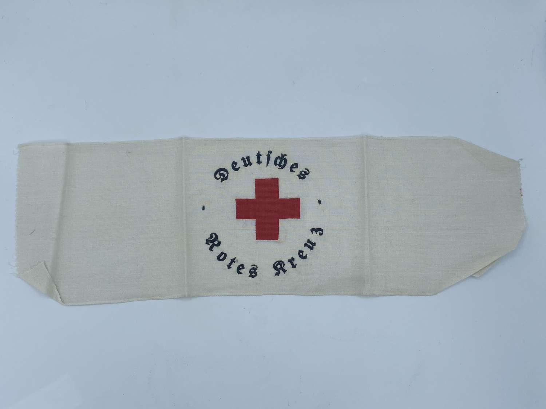 Late WW2 German Deutsches Rotes Kreuz DRK German Red Cross Armband