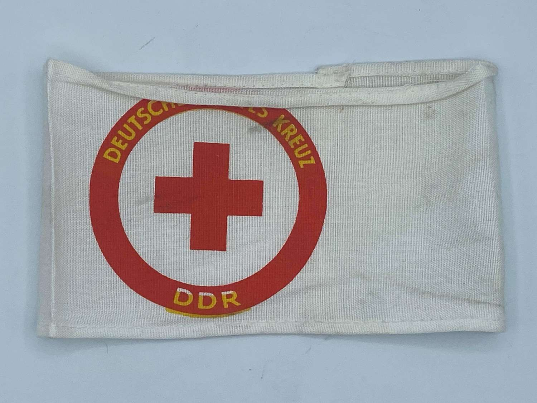 Post WW2 1960s DDR Deutsches Rotes Kreuz Printed Armband