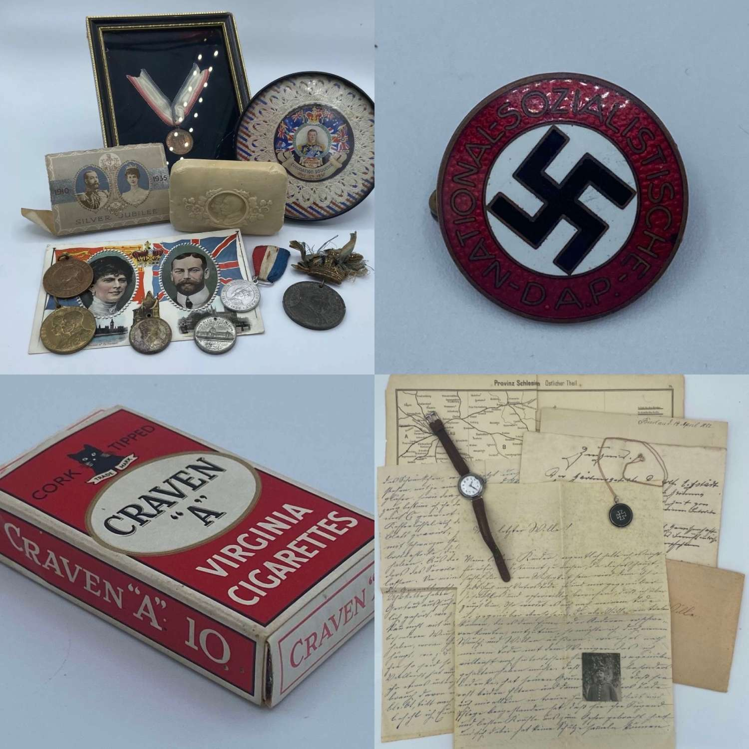 Collection Of WW1 & WW2 Items Pre Ordered Joblot For Customer