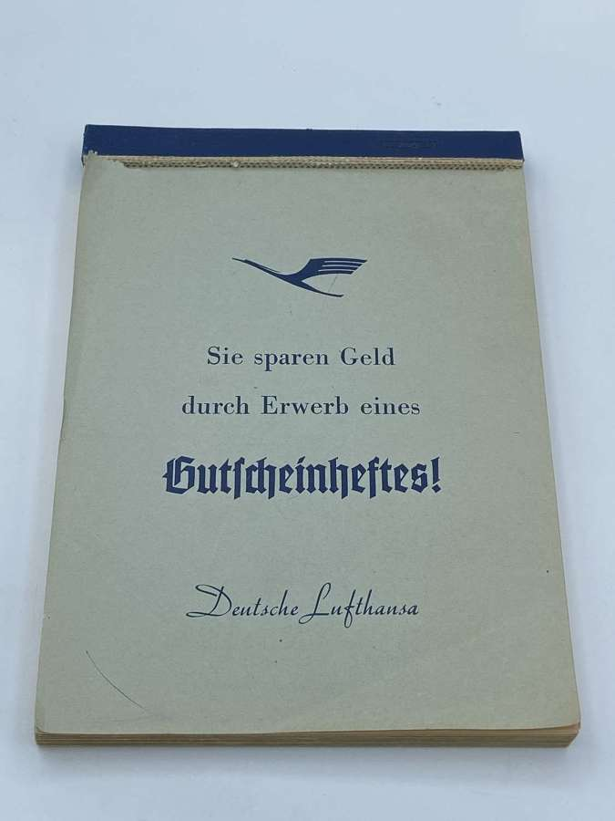 1950s German Airways Deutsche Lufthansa Employees Note Book Gilt Page