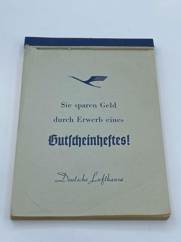 1950s German Airways Deutsche Lufthansa Employees Note Book Gilt Page
