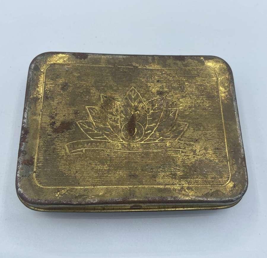 1950s German Army Bundeswehr Brass Tobacco Tin