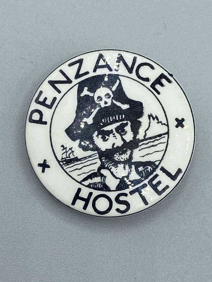 Vintage 1970s Penzance Hostel Charity Pin Badge
