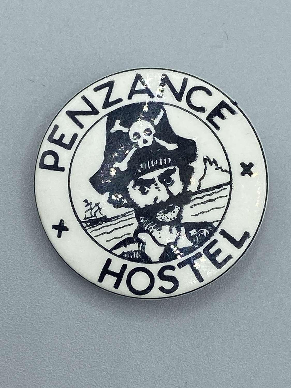 Vintage 1970s Penzance Hostel Charity Pin Badge