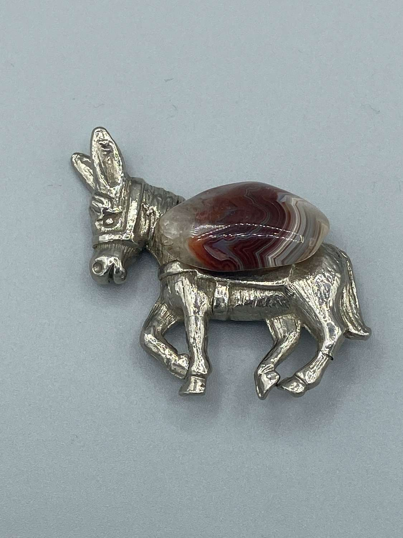 Scottish Heraldic Emblem Issachar Donkey & Gem Stone Badge