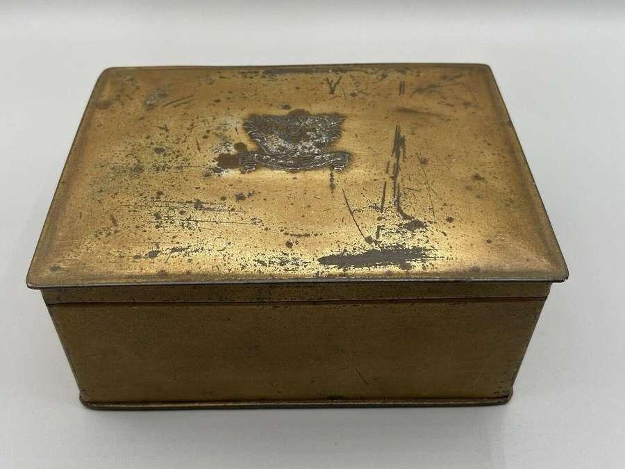 Antique WW2 British & United States State Express Cigerette Tin Empty