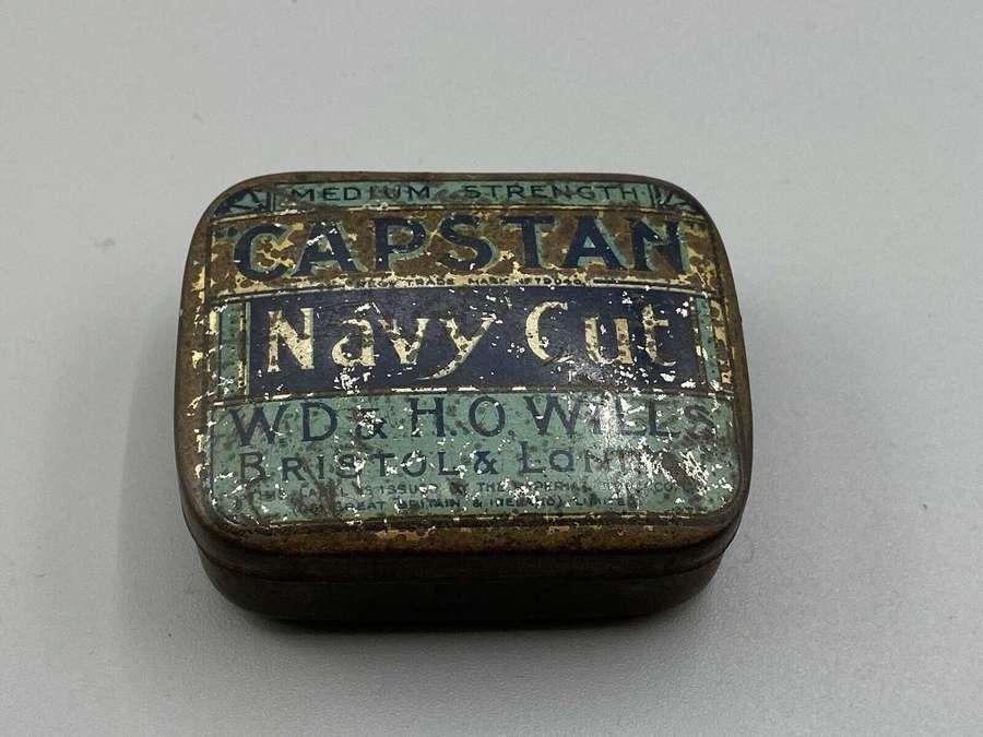 WW1 Wills's Capstan Navy Cut Tobacco Tin Striker On Bottom