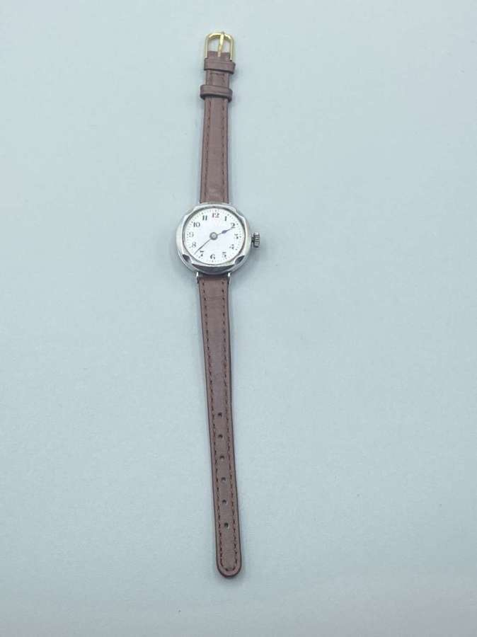 WW1 British Officer Silver 925 1915 George Stockwell & Company Watch