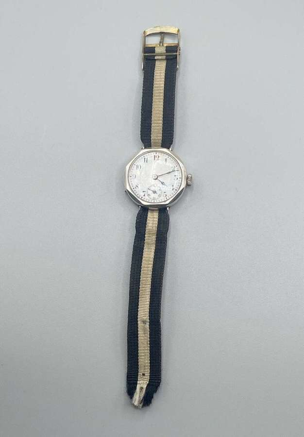 WW1 British Officers Silver Hallmarked George Stockwell &  Co Watch