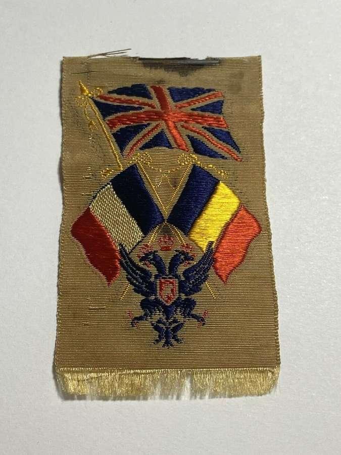 WW1Triple Entente Britain France Russia Romanian SilkRibbon Fundraiser