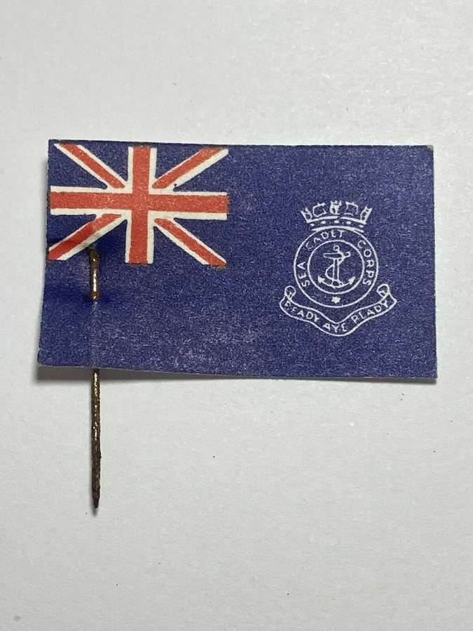 WW1 Navy League Flag Day For Sea Cadet Corps Fundraising Flag Pin