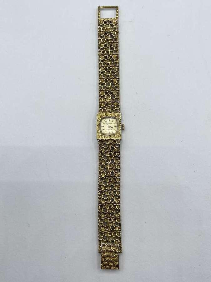 Vintage Gold Tone Honey Comb 21 Jewel Accurist Womens Watch