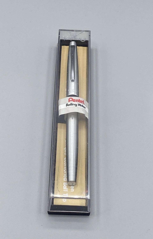 Vintage 1970s R3 Aluminium Pentel Japan Rolling Writer + Original Case