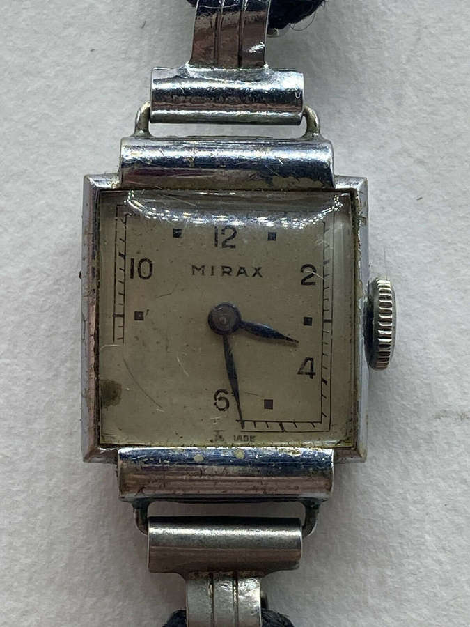 Vintage Art Deco Mirax Swiss Made Schild & Co Domed Front Wrist Watch