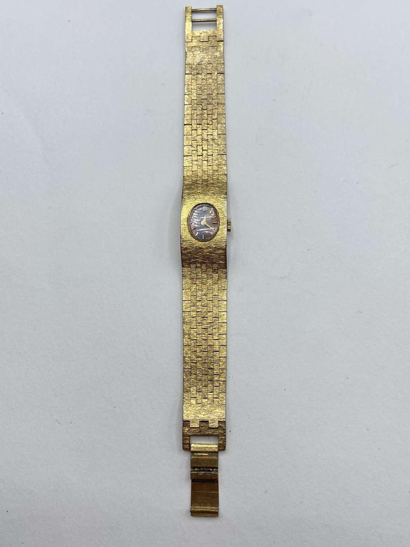 Vintage 1970s Gold Tone Working Womens Rotary Swiss Watch Jewel