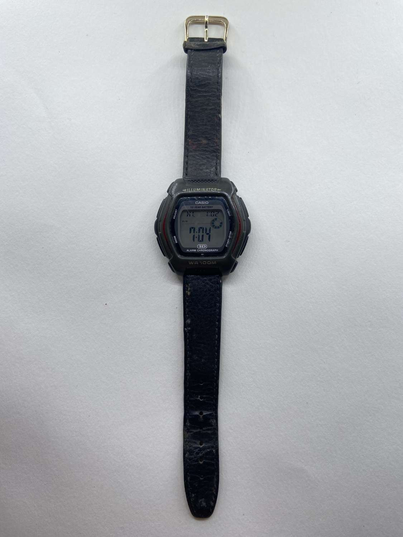 Vintage Digital Working Casio HD-600 Illuminator WR 100M Alarm Watch