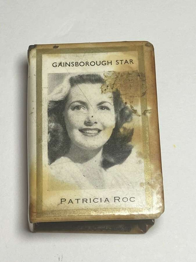 WW2 Post matchbox sleeve Celluloid pictures of British Movie Star
