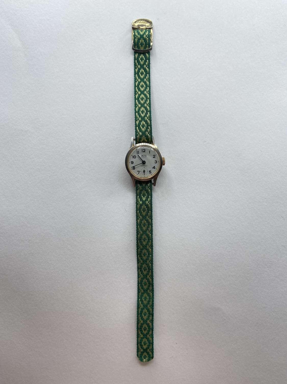 WW2 Era 1940s 23.8mm Smiths Jeweled Shockproof Great Britain Watch