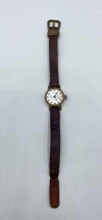 Rare Ww2 Era ATS Zeno Rendex 17 Jewels Incabolic Working Wrist Watch