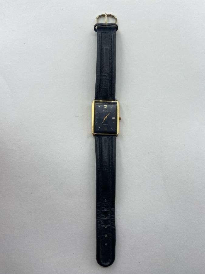 Vintage 1980s Womens Accurist Quartz Japan Working Watch & Leather Str