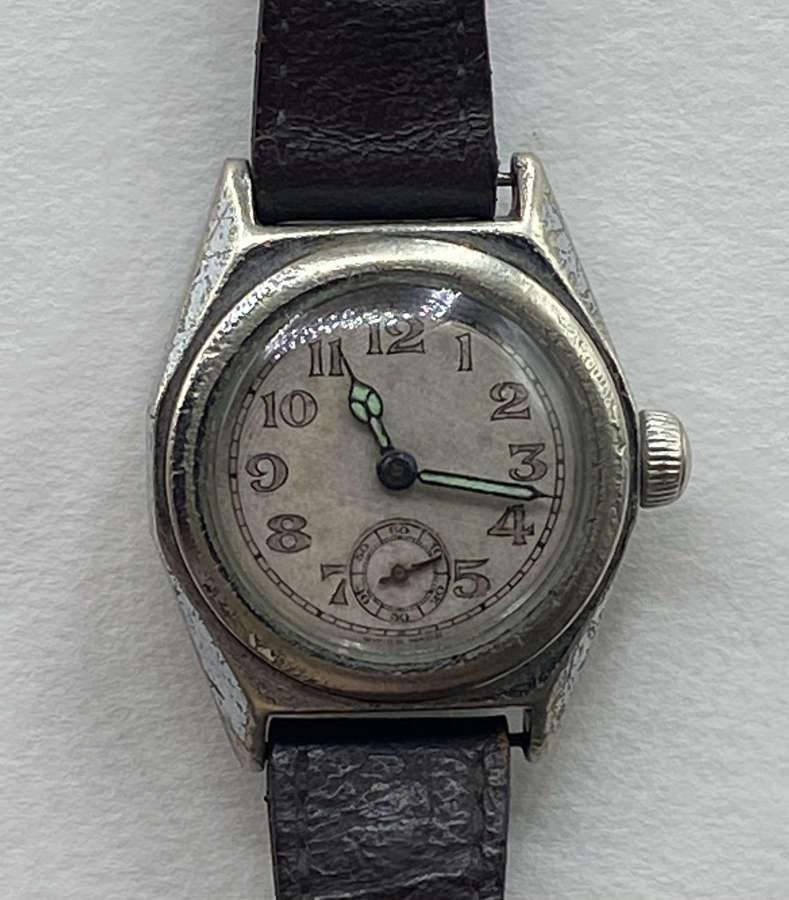 WW2 British Army RAF Stainex Rotary Working Wrist Watch 15 Jewels 6/24