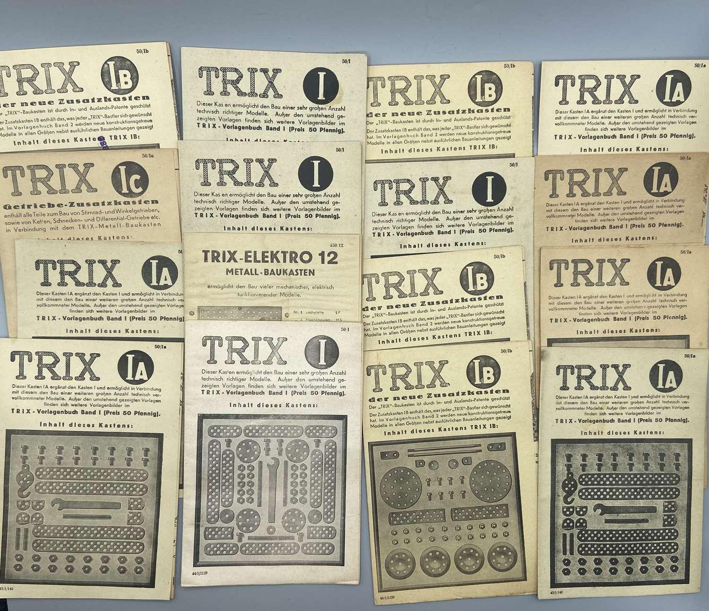 WW2 German 1931-41 Trix Meccano Construction Booklets Template Books