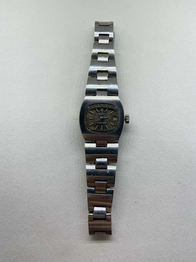 Vintage 1970s Rotary Automatic Working Wrist Watch Marked 25 J