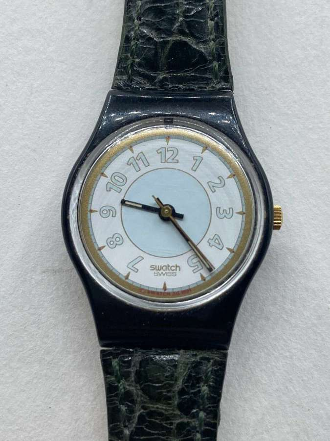 Rare 1990s Working Vintage Swiss Pop Swatch Watch Ag 1991 S239 No 6547