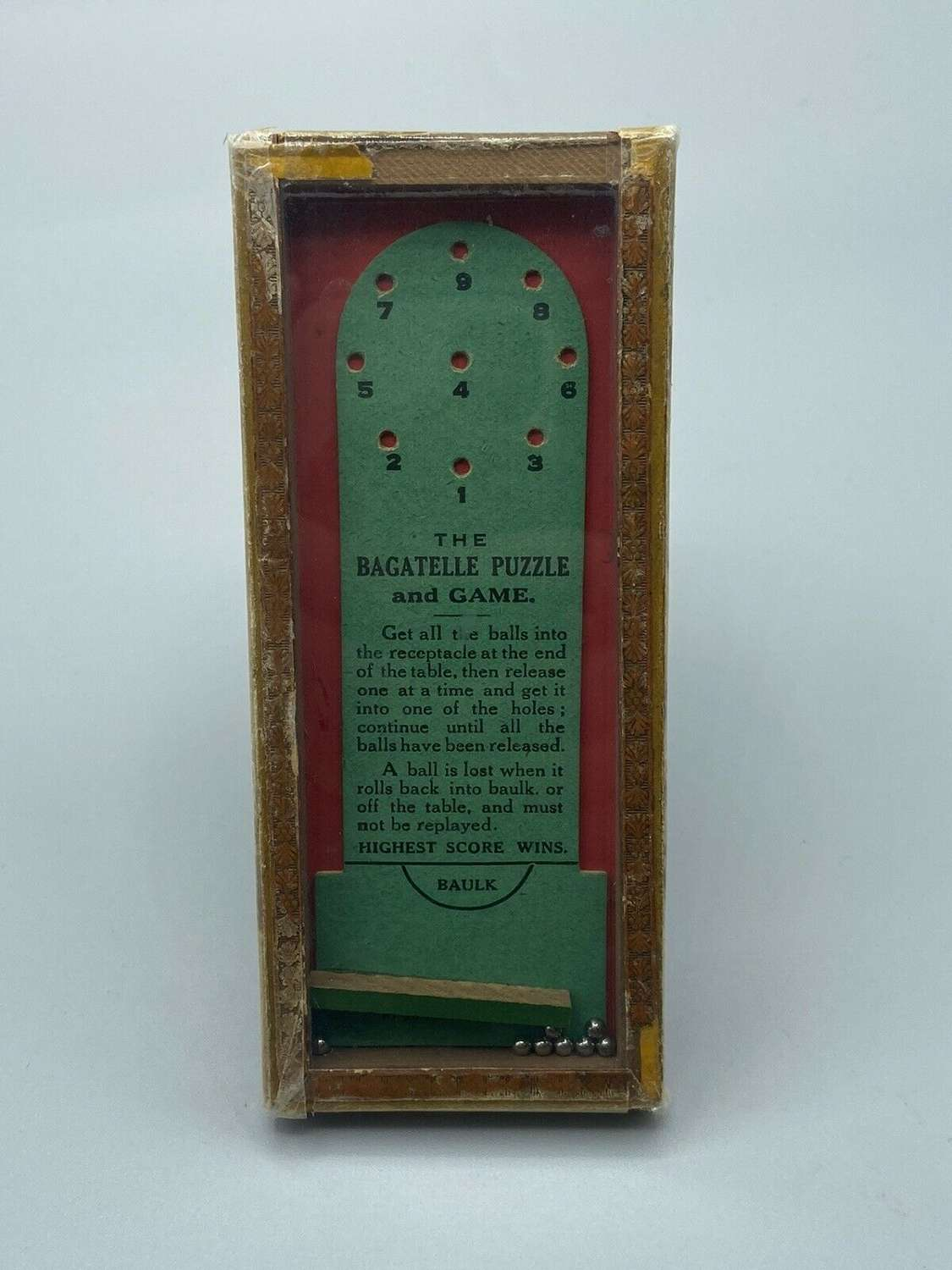 WW2 British Homefront Children's Game The bagatelle puzzle and game