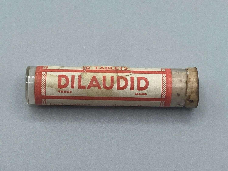 Rare WW1 British Army Issue Medics 10 Tab Dilaudid By KNOLL Glass Vile