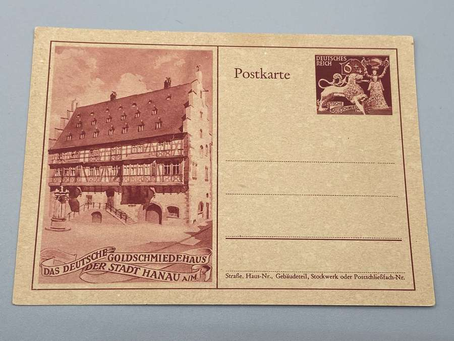 WW2 The German Goldsmith's House of the City of Hanau Postcard