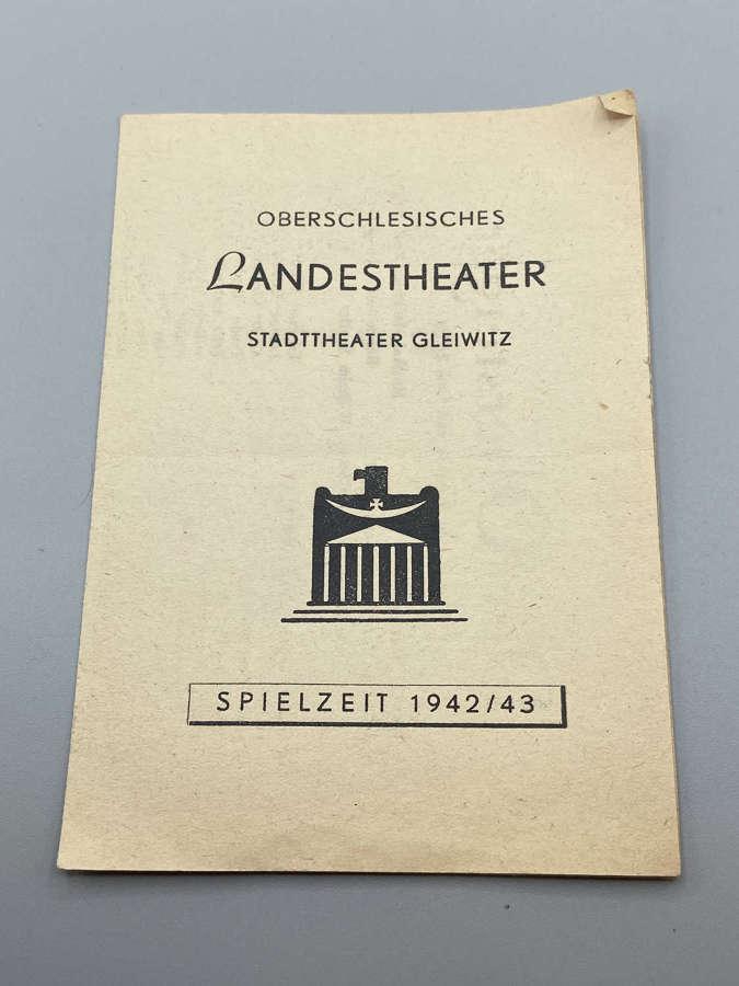 WW2 German 1942-43 Landstheatre Gleiwitz The Mine Foreman leaflet