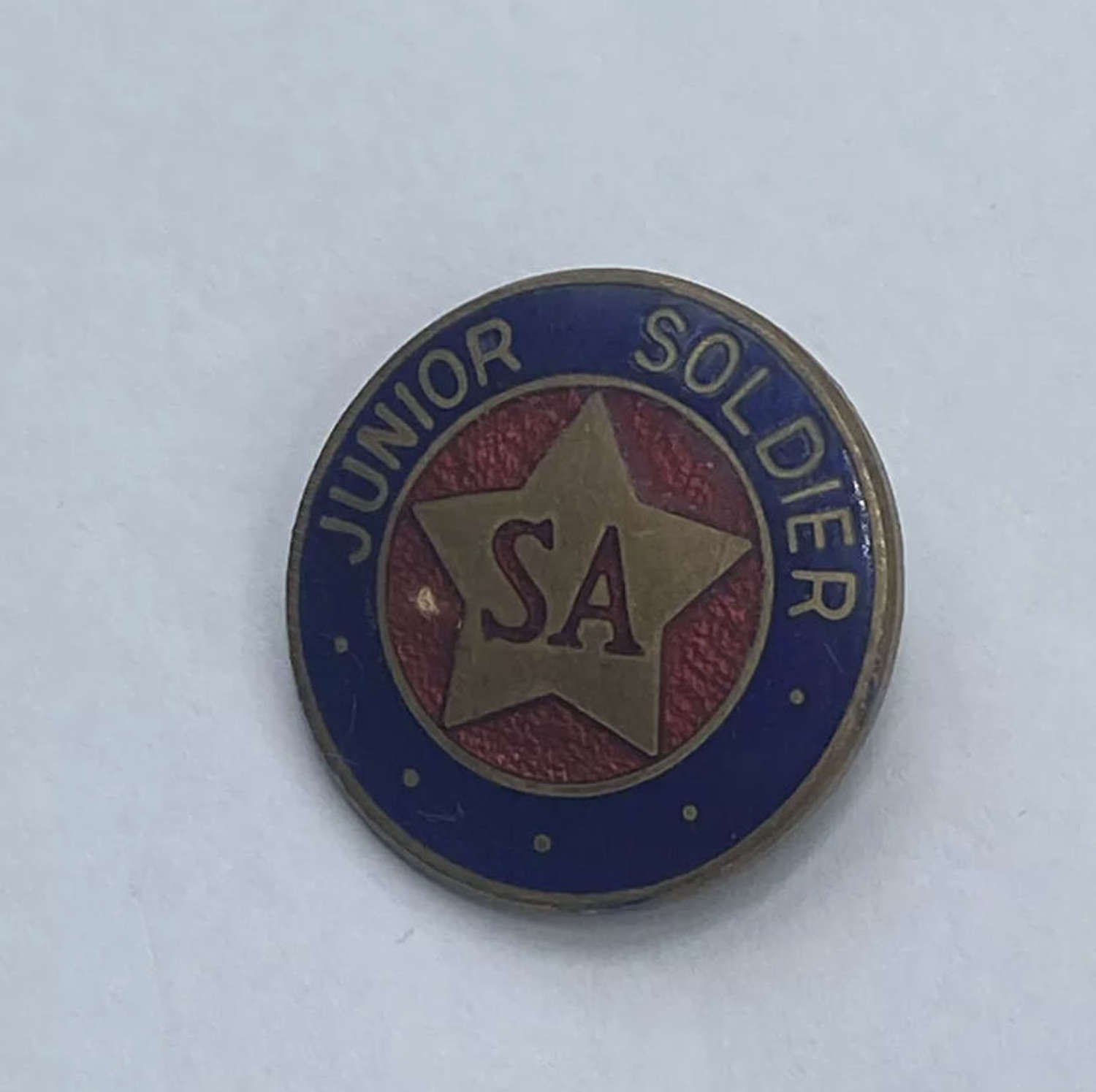 Vintage 1950s Salvation Army Junior Soldier Enamel And Brass Badge