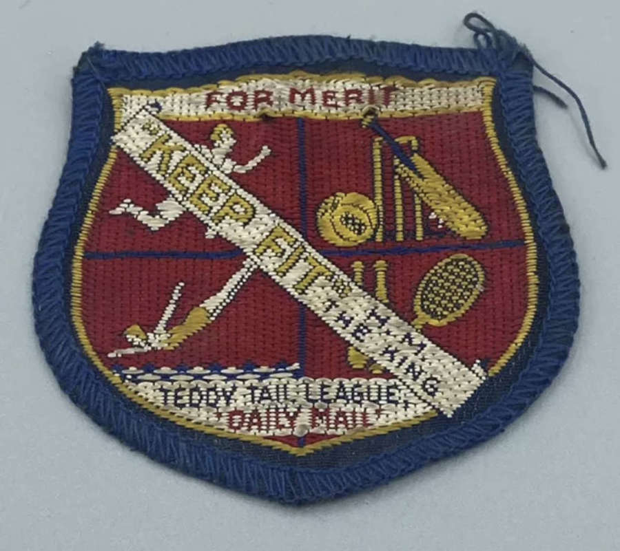 1940s Boys Girls Scouts Merit Keep Fit HM King Teddy Tail League Patch