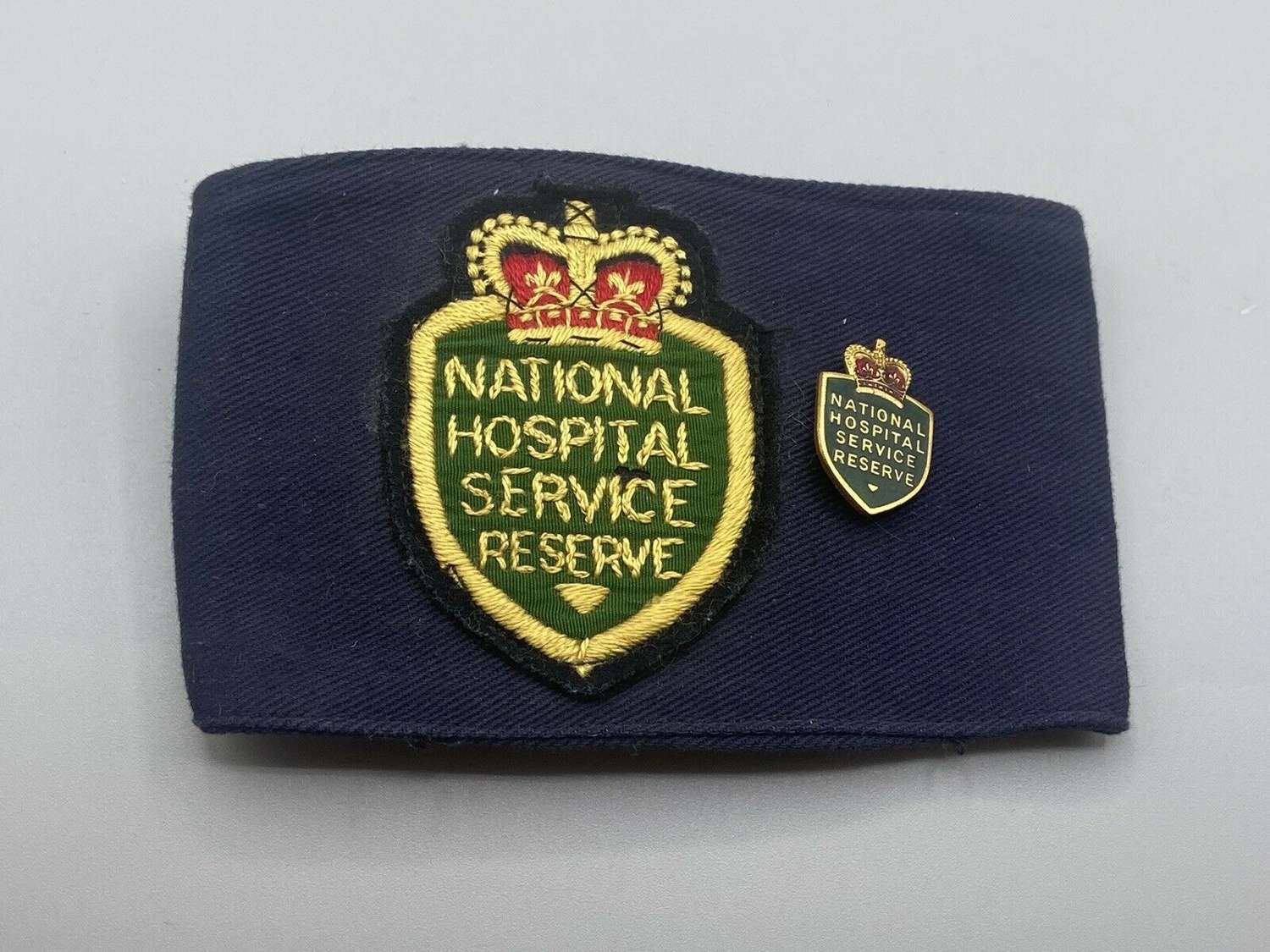 WW2 To Early Post National Hospital Service Reserve Armband And Badge