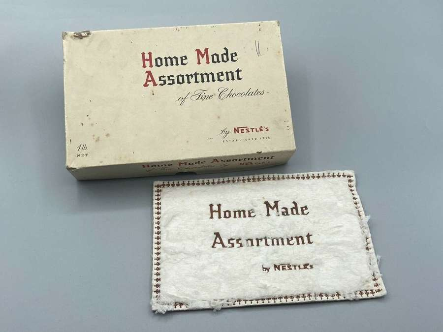 WW2 Issue Dated 1941 Home Made Assortment Nestle Fine Chocolate & Wrap
