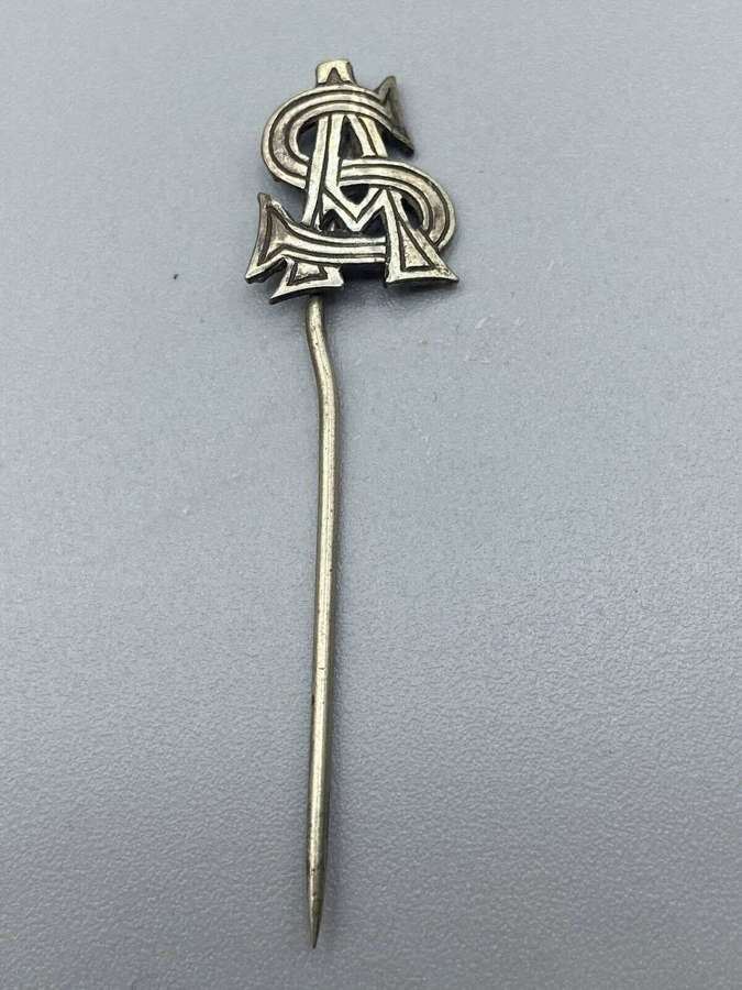 WW1 Silver Tested SA Monogram For Salvation Army Supporters