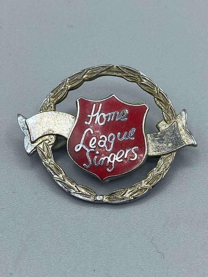 1940s-50s Salvation Army Home League Singers Enamel Badge