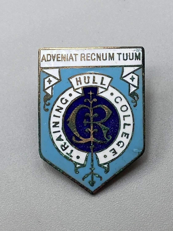 Hull College Training badge 1900s Brass Enamel Thomas Fattorini