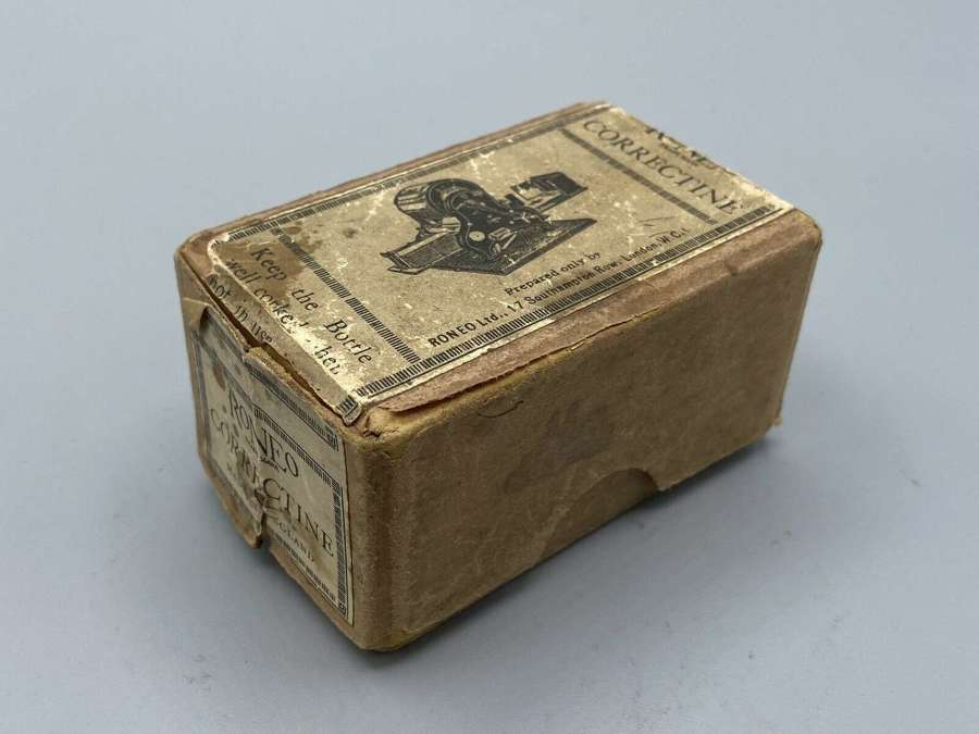 WW2 1939 Roneo Correctine Made In England Southampton Copier Box