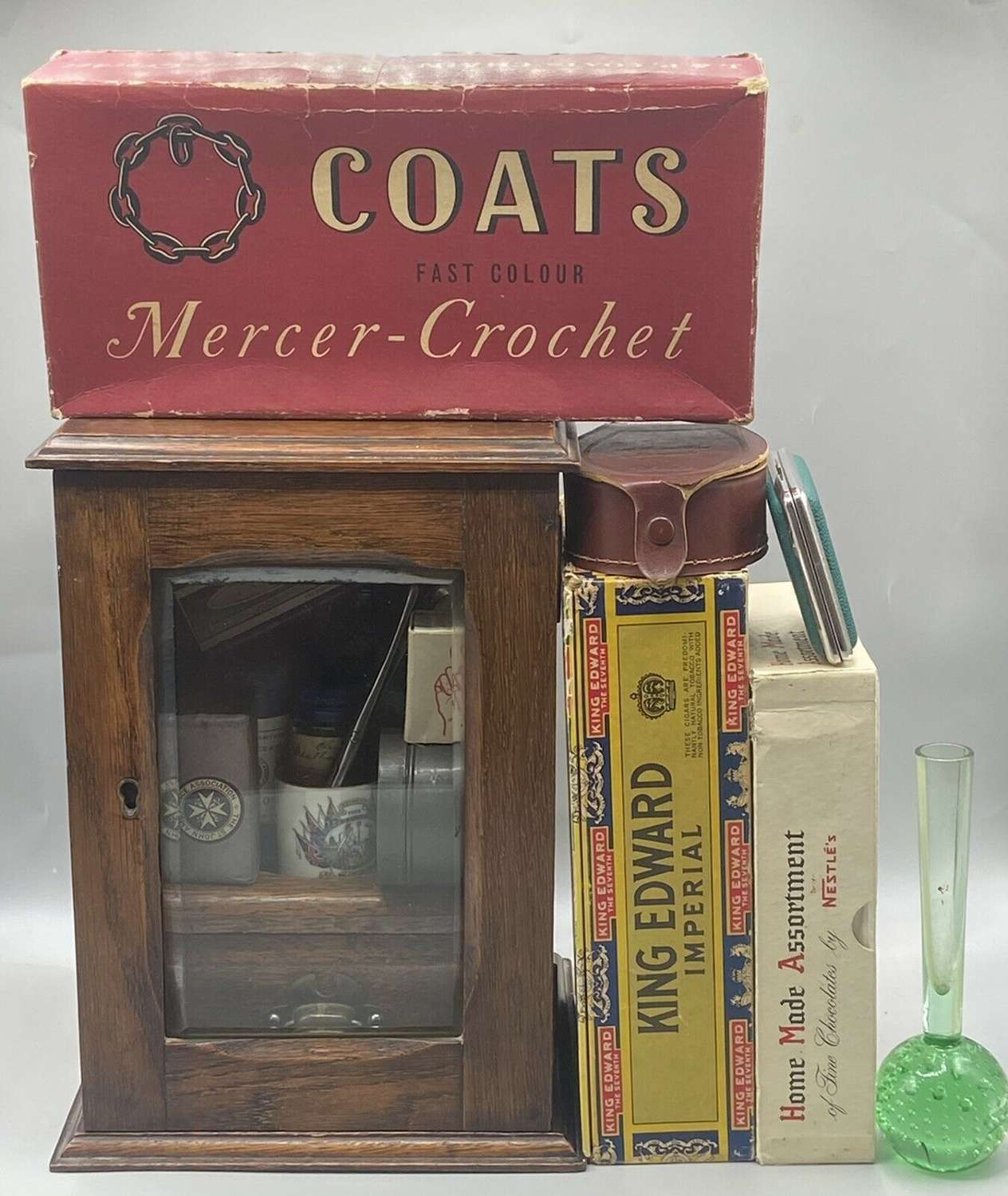 WW2 Brits Home Front Medical Shop Display Cabinet & Convenience Jobot