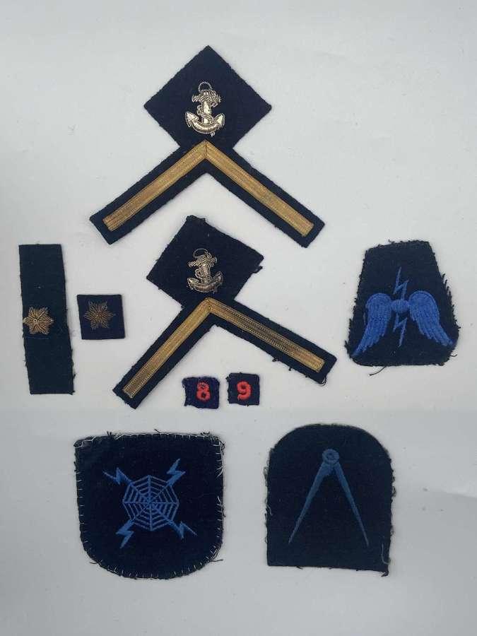 WW2 British Royal Navy PO3 Rank Proficiencies And Trade Patches