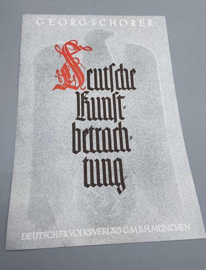 WW2 German Georg Schorer Art Viewing In Munich Leaflet Summary Critic