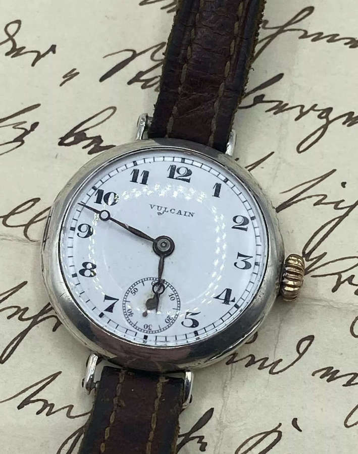 WW1 German Imperial Army Officers Vulcain Working Chronometer Watches
