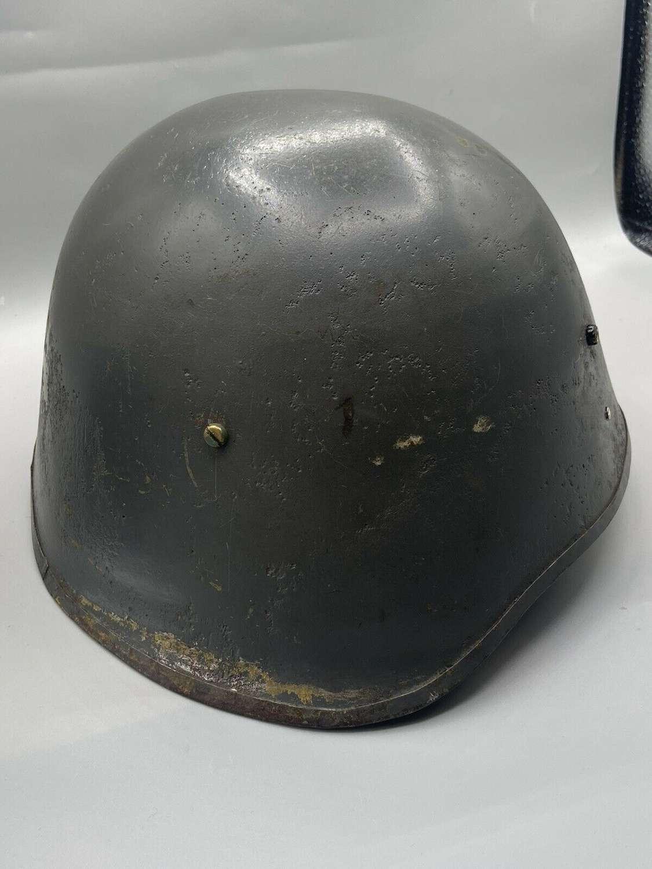 WW2 Pre German Occupation Danish M23/39 Civil Defense Helmet And Liner